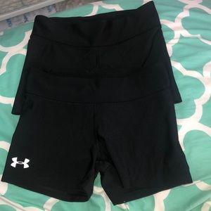 Under Armour Shorts - Bundle of 2 Black Under Armour Spandex
